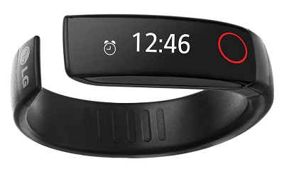 LG Lifeband Touch black fitness tracker wearable