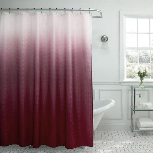 Modern Ombre Waffle Weave Shower Curtain