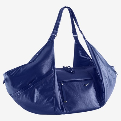 Blue Nike gym bag tote