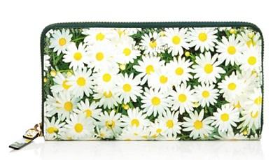 daisy print wallet