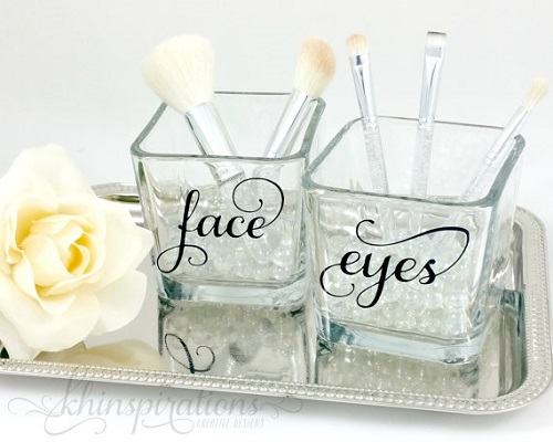 Etsy makeup brush holders