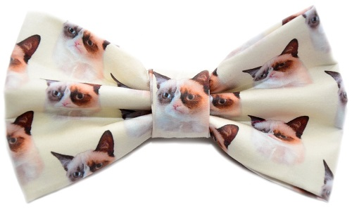 Grumpy cat hair bow