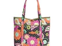 vera bradley colorful printed tote bag
