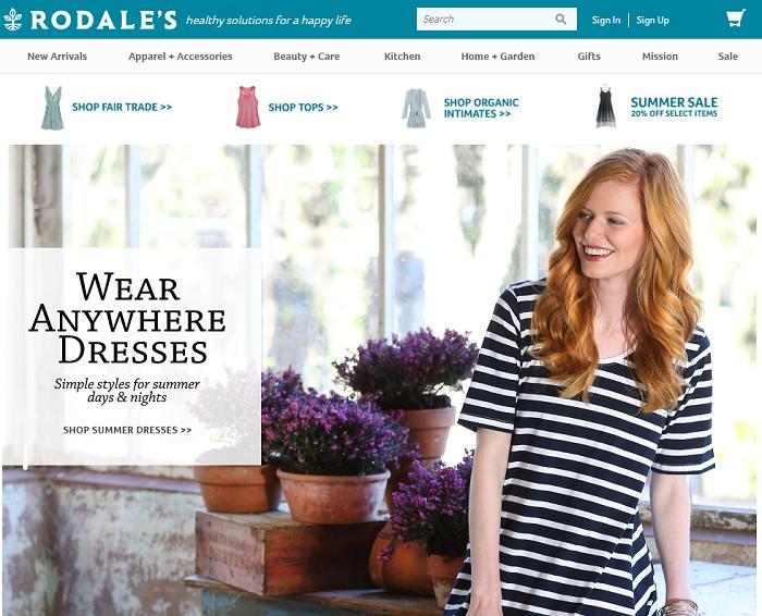 Rodales.com homepage