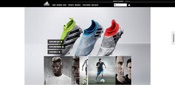 adidas.com homepage