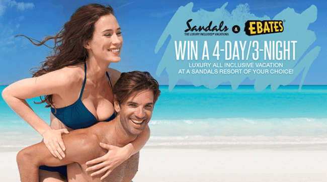 Win a Sandals Vacation Giveaway from Ebates