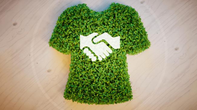 Green grass shirt eco friendly shopping