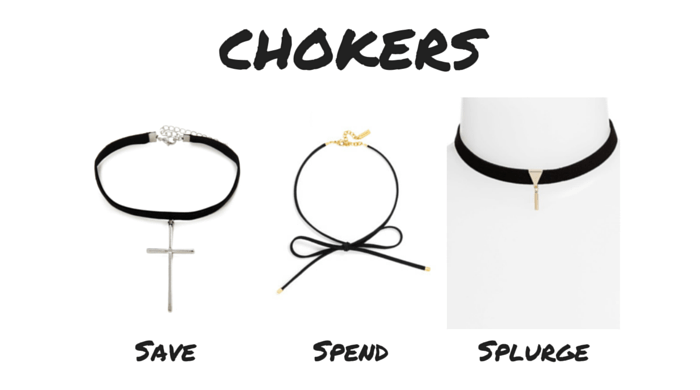 Save Spend Splurge 90s Chokers