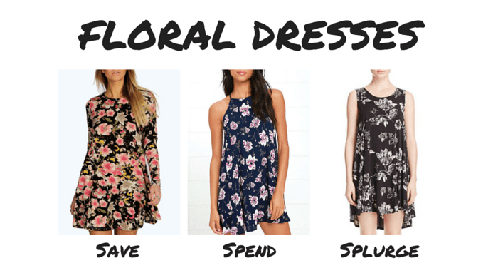 Save Spend Splurge 90s Floral Dresses