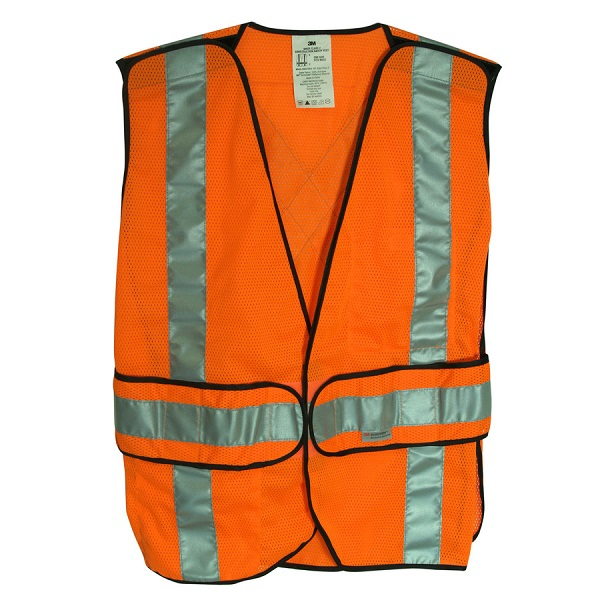 Orange safety vest reflective