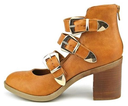 Rodger Faux Leather Buckle Boots