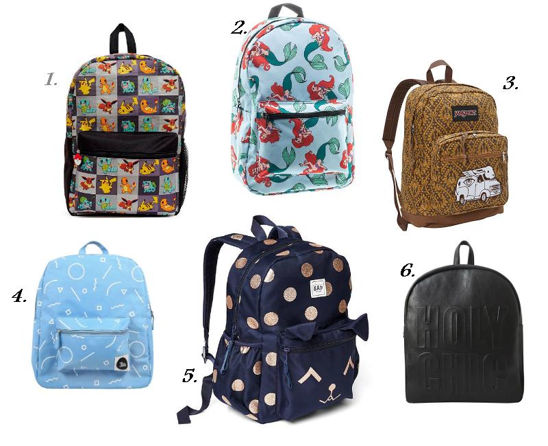 School Backpacks Collage