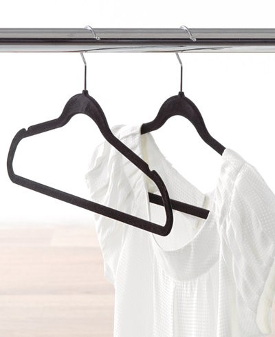 Black molded clothes hangers
