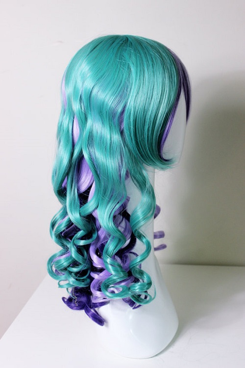 Long rainbow mermaid wig