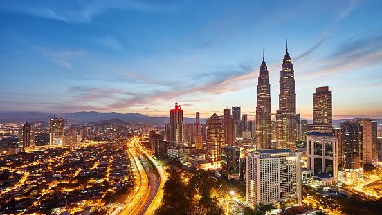 Sunrise view over Kuala Lumpur