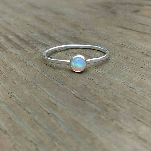 RavenSongStudio opal stacking ring