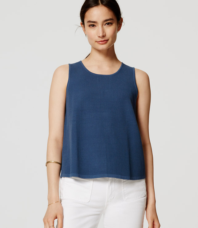 blue sweater tank