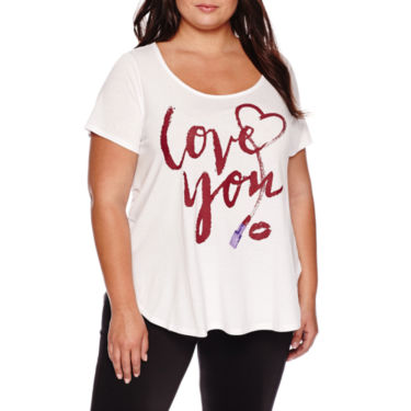 Love you Short-Sleeve Graphic Boyfriend Tee