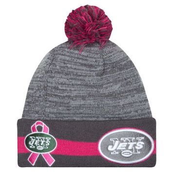 Breast Cancer Awareness Knit Hat