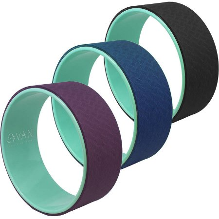Yoga Wheel with Premium TPE Mat Material
