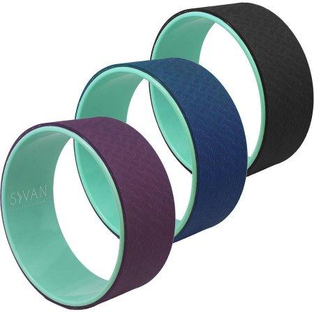 Yoga Wheel with Premium TPE Mat Material