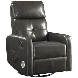 Coaster Furniture Transitional Swivel Glider Recliner