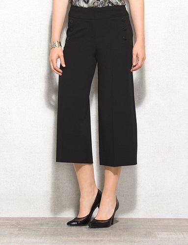 black goucho pants