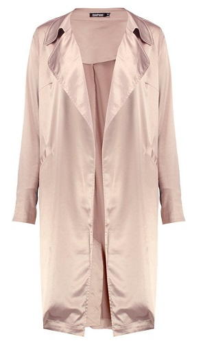 Satin pink duster