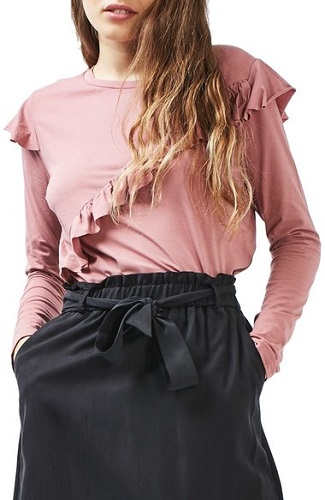 Long Sleeve Ruffle Tee