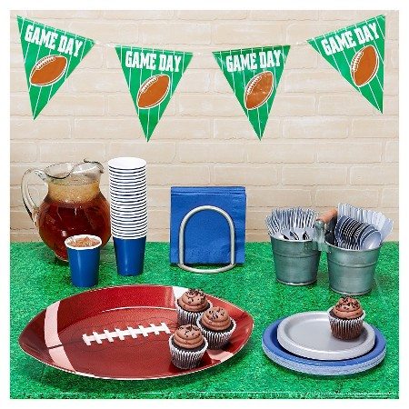 Football Tailgate Navy & Silver Party Pack