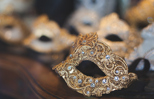 Venetian carnival face mask
