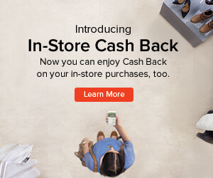 Coupons, Promo Codes & Cash Back, In-Store Cash Back