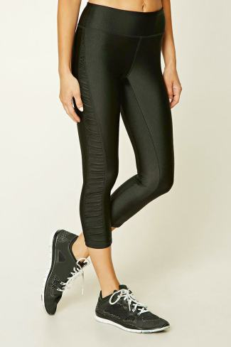 Forever 21 Active Ruched Capri Leggings