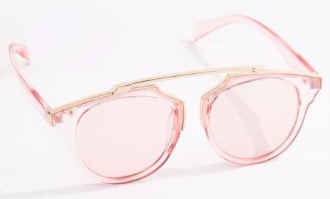 Translucent pink sunglasses