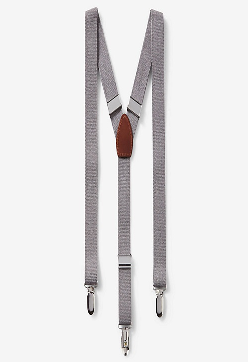 gray suspenders