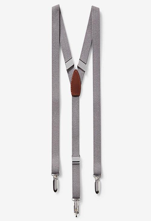 gray suspenders