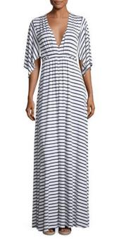 Neiman Marcus striped maxi dress
