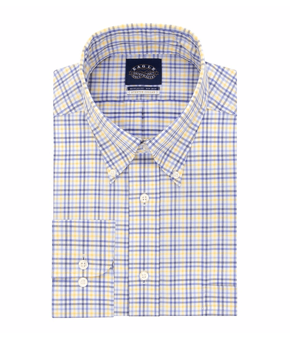 Eagle Men's Checked Dress Shirt