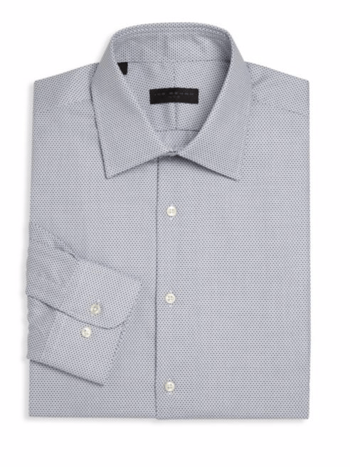 Ike Behar Geometric Regular-Fit Dress Shirt