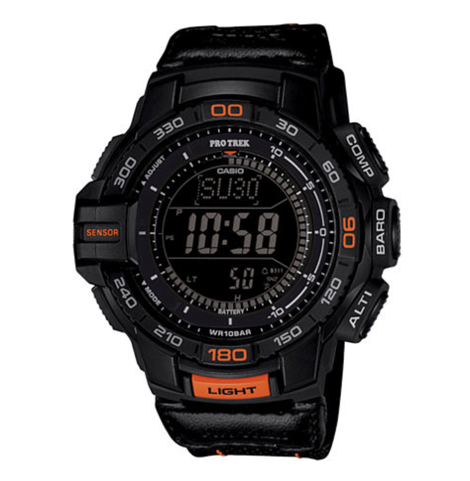 Casio® Pro Trek Tough Solar Triple Sensor Mens Aviator-Style Watch