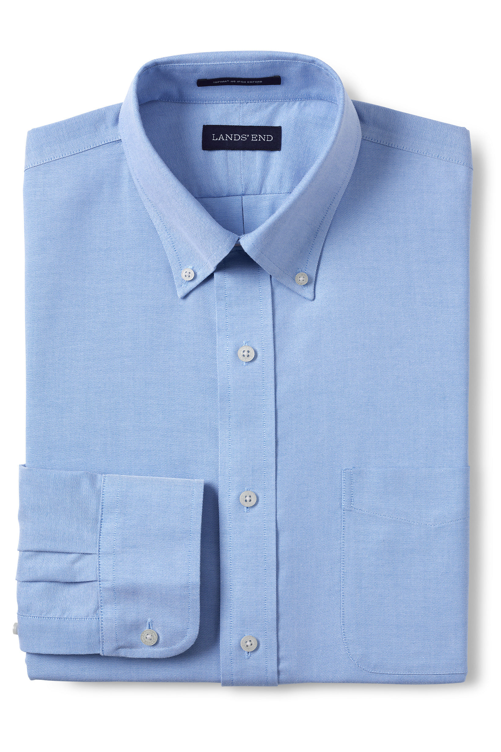 Men's Solid No-Iron Supima Oxford