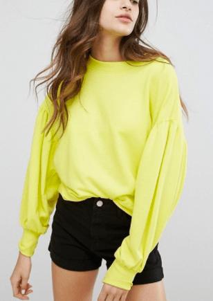 Bershka Puff Ball Sleeve Sweater