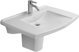 Villeroy Boch Lifetime Wash Hand Basin Wall Hung 700 X 535 1 Tap Hole 5174 80 01 Alpine White