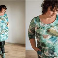 Kleid Schnittmuster für große Größen aus Sweat Hannes von Swafing