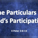 The Particulars of God's Participation