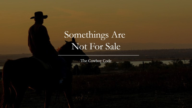 Somethings Are Not For Sale
