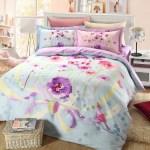 Light Blue And Purple Floral Bedding Set Ebeddingsets
