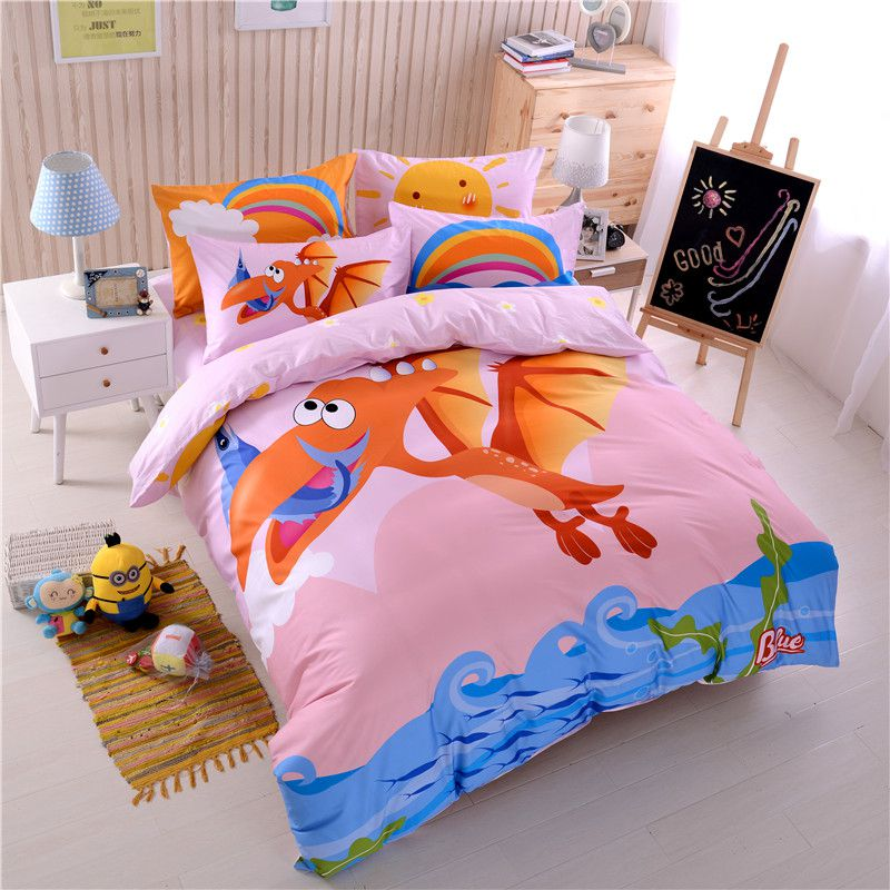 Teen Dragon Print Comforter Sets Twin Queen Size Ysl