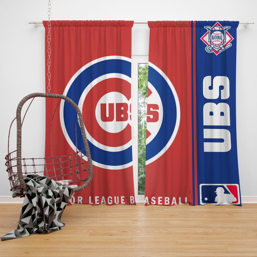 chicago cubs mlb baseball national league window curtain
