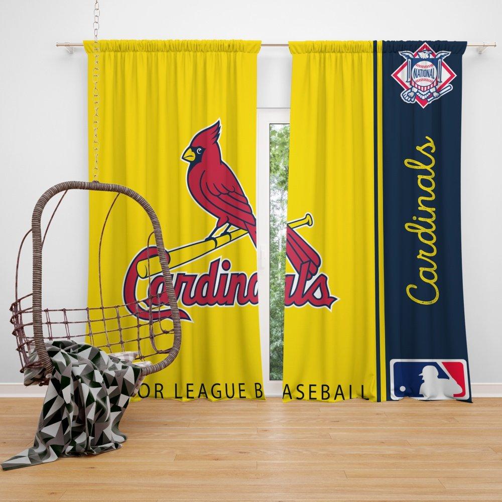 st louis cardinals mlb baseball national league window curtain